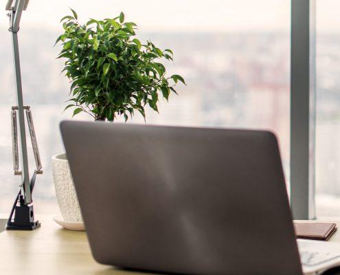 Chefbüros Beispielbild Laptop